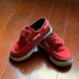 Red Nautical Boat Shoes